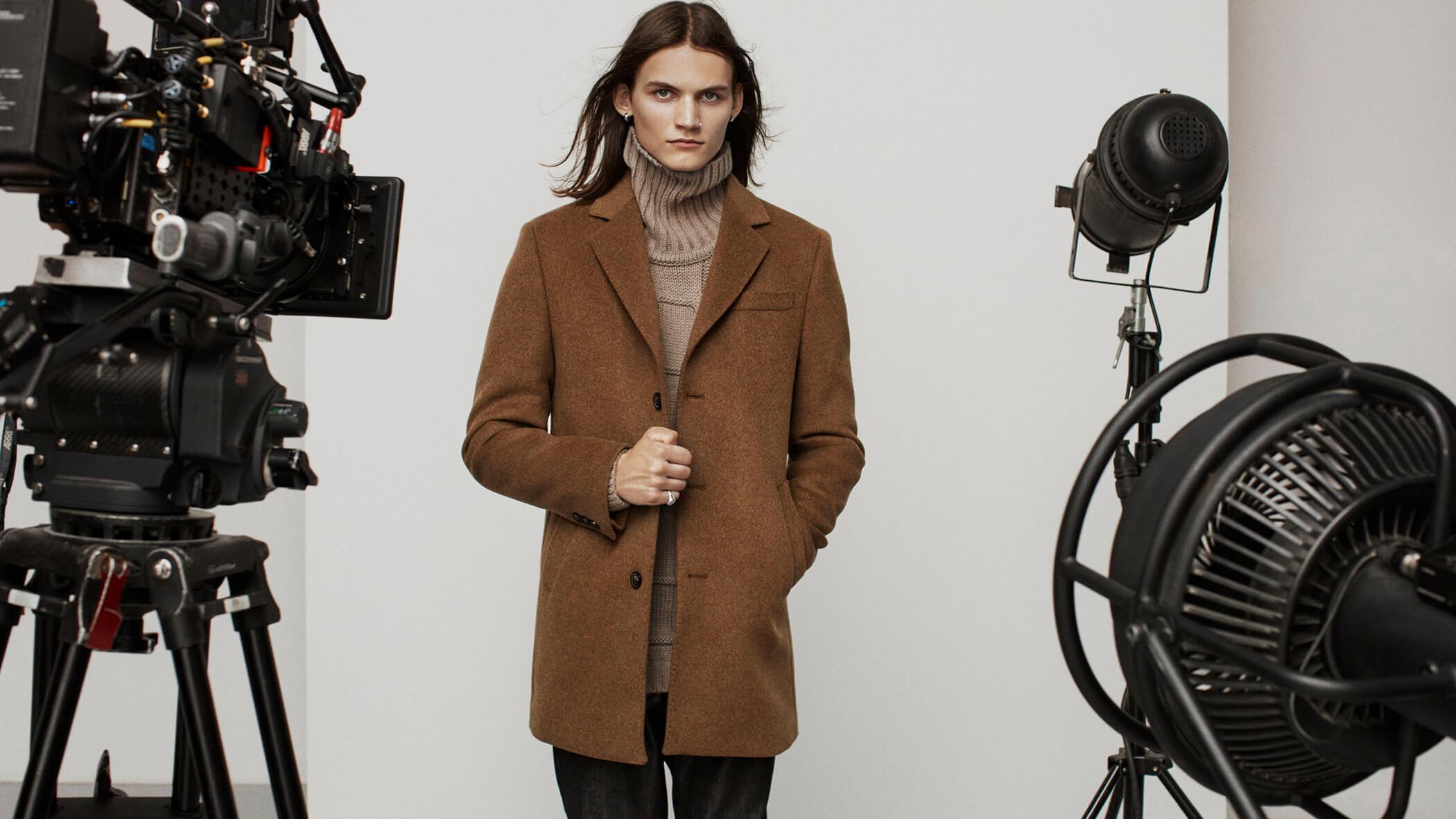 pako lorente oblicza stylu płaszcz męski